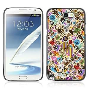 YOYOSHOP [Cool & Cute Tatto Pattern] Samsung Galaxy Note 2 Case