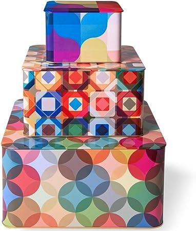 Remember Fiesta - Juego de 3 cajas de hojalata multicolor: Amazon.es: Hogar