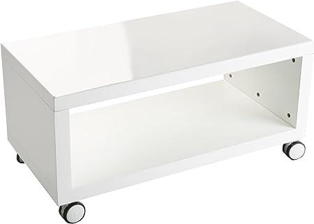 Versa 15810323 - Mesa con Ruedas para TV, de Madera lacada, 38 x 40 x 80 cm, Color Blanco: Amazon.es: Hogar