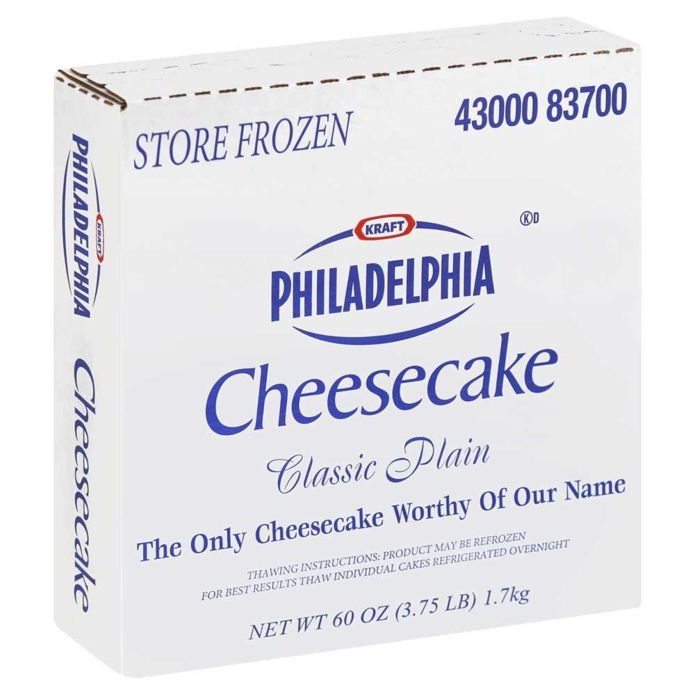 Kraft Frozen Philadelphia Plain Cheesecake, 60 Ounce -- 4 per case.