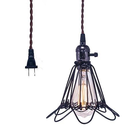 Amazon.com: HEBOLEN Vintage Metal Pendant Light Fixture, Industrial ...