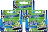 Dorco Pace 6 Plus- Six Blade Razor System with Trimmer- 12 cartridges (No Handle)