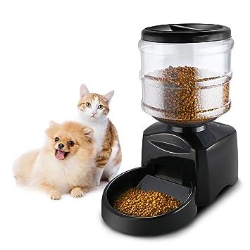 HLMF 5.5L Fuente automática del alimentador de Mascotas Grabación de Mensajes de Voz Pantalla LCD Grandes Perros Inteligentes Gatos Dispensador de Alimentos ...