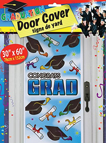 Express Novelties Online Graduation Door Cover - Party Decorations Supplies - 30