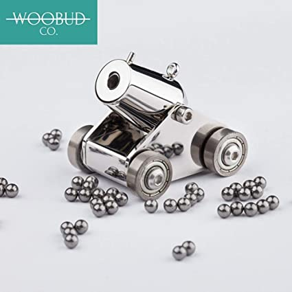 woobud pocket artillery mini cannon military model kits miniature metal  scale replicas with pellets , ramrod