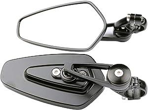 MotorToGo Black Arrow Bar End Mirrors for 2007 Kawasaki Ninja 650R EX650A