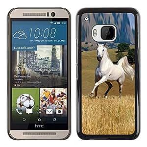 TECHCASE**Cubierta de la caja de protección la piel dura para el ** HTC One M9 ** Mustang Horse Steppe Great Wild Outback Freedom