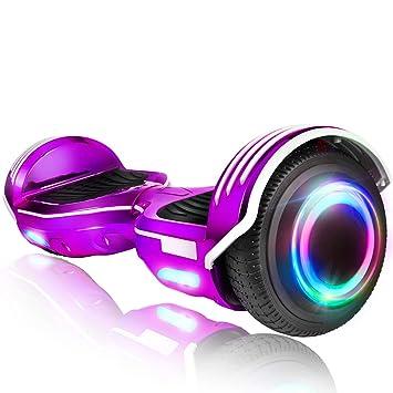 Amazon.com: ROCKETX Hoverboard con altavoz Bluetooth LED ...