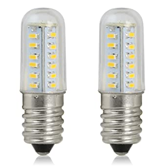 reelco paquete de 2 unidades Mini bombilla LED E14 2 W bombilla para frigorífico vela luces