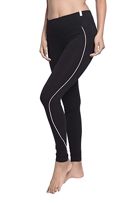 Amazon.com : Satva Womens Organic Cotton Yoga Pants Tights ...