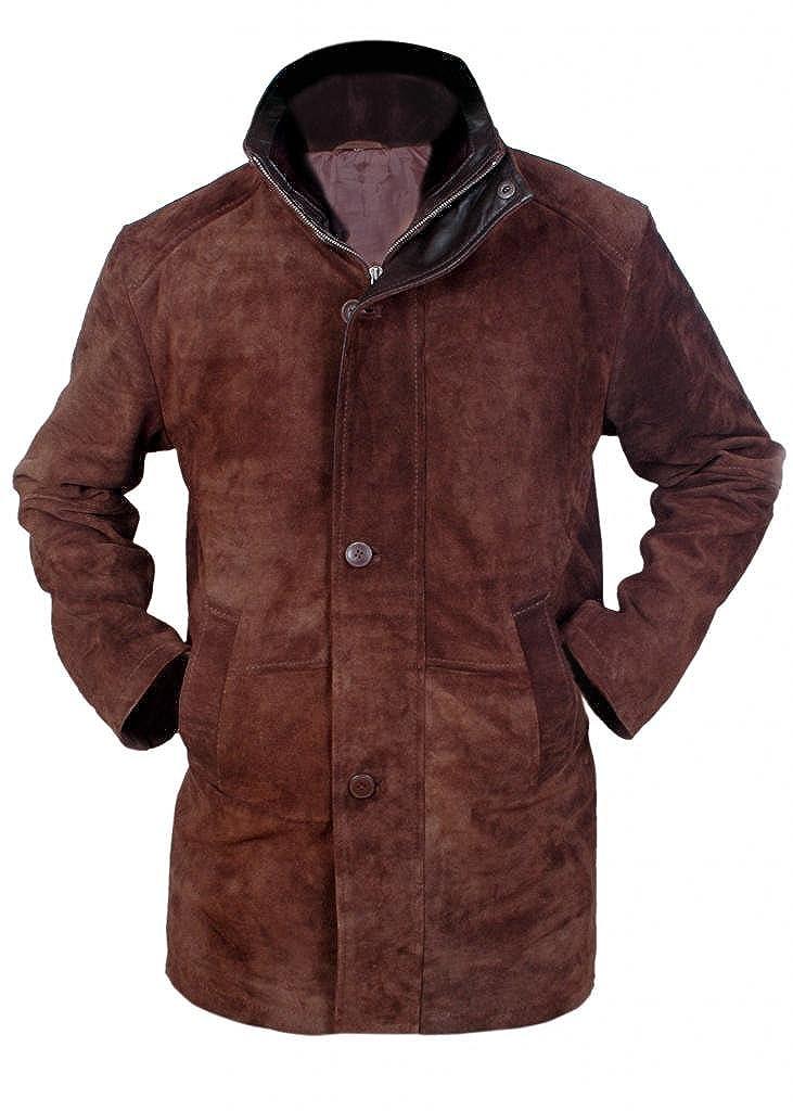 Flesh & Hide F&H Men's Sheriff Walt Longmire Robert Taylor Genuine Leather Coat FH00100