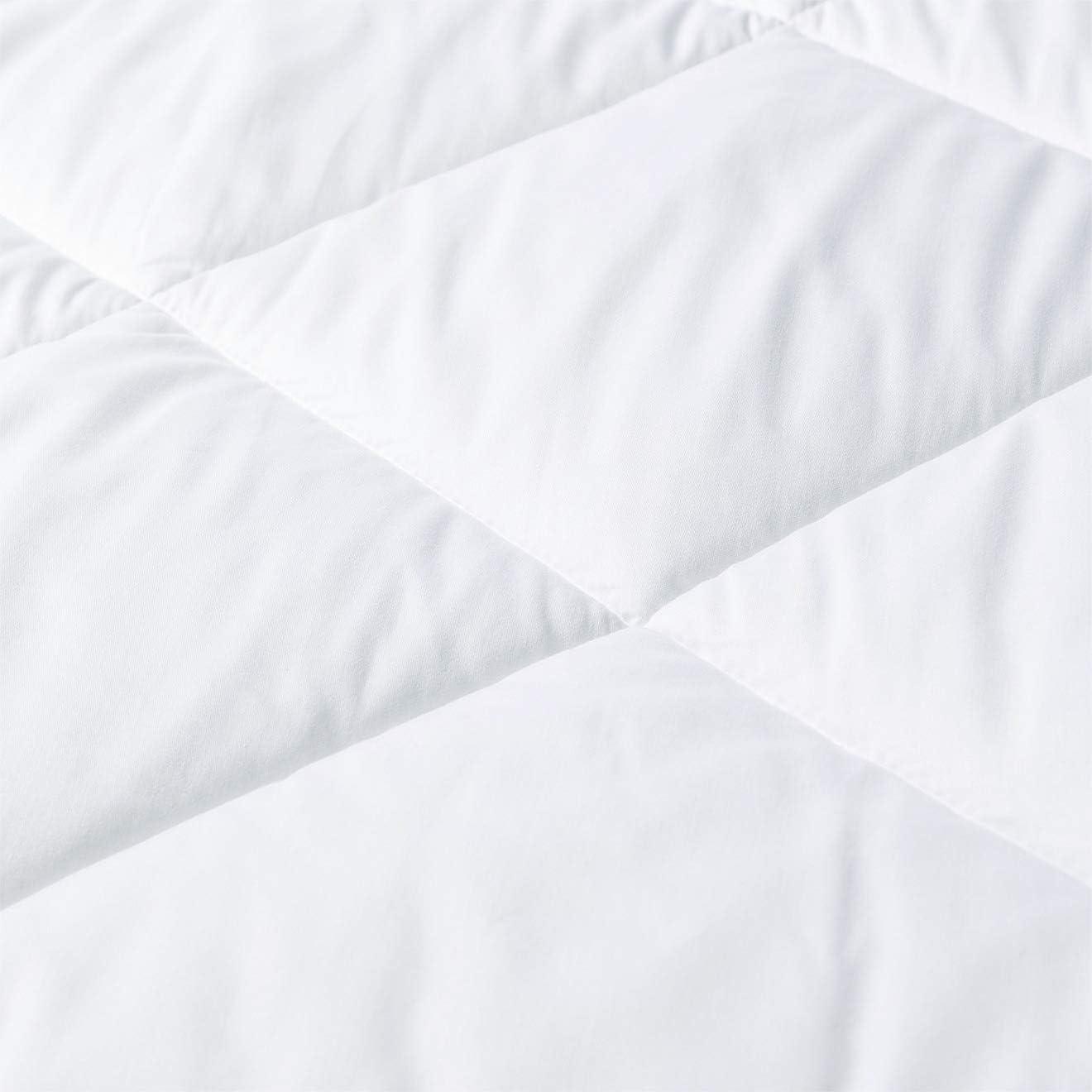 hypoallerg/énique couette en microfibre Blanc, 240 x 220 cm Melunda Couette