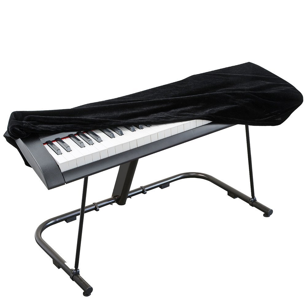 SmartRICH Piano Cover, Stretchable Adjustable Velet Digital Piano Dust Cover for 88 Keys Electronic Keyboard, Digital Piano (Black) 10780905