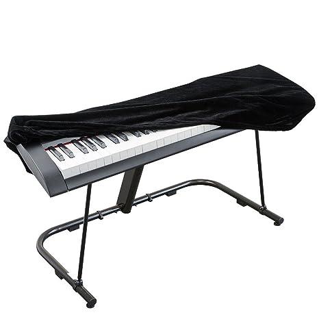 Funda para piano Smartrich, funda elástica ajustable de terciopelo para teclado digital,