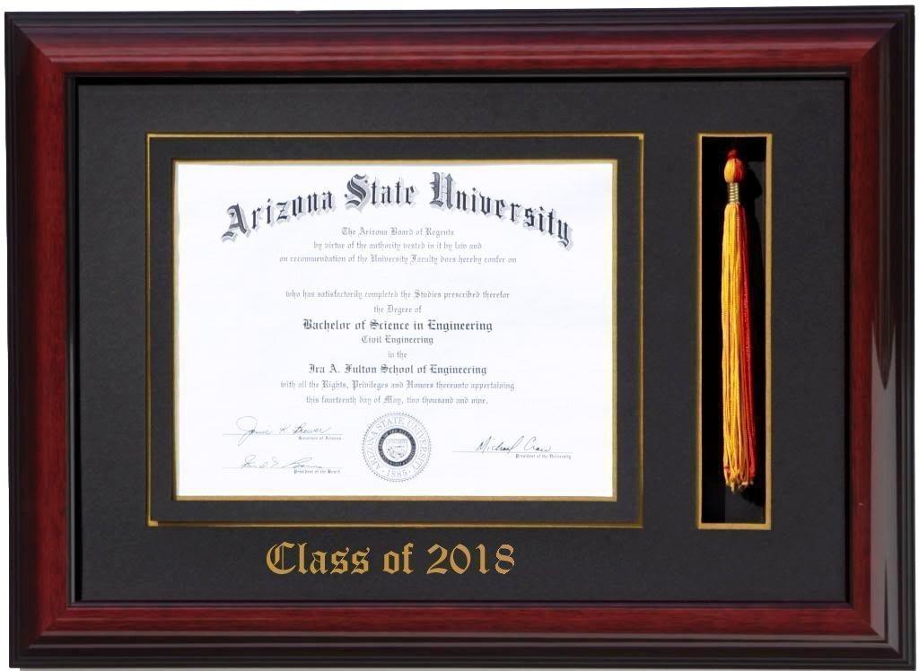 Amazon.com - Diploma Tassel Frame 11x8.5 Brandy 2018 (Customizable ...
