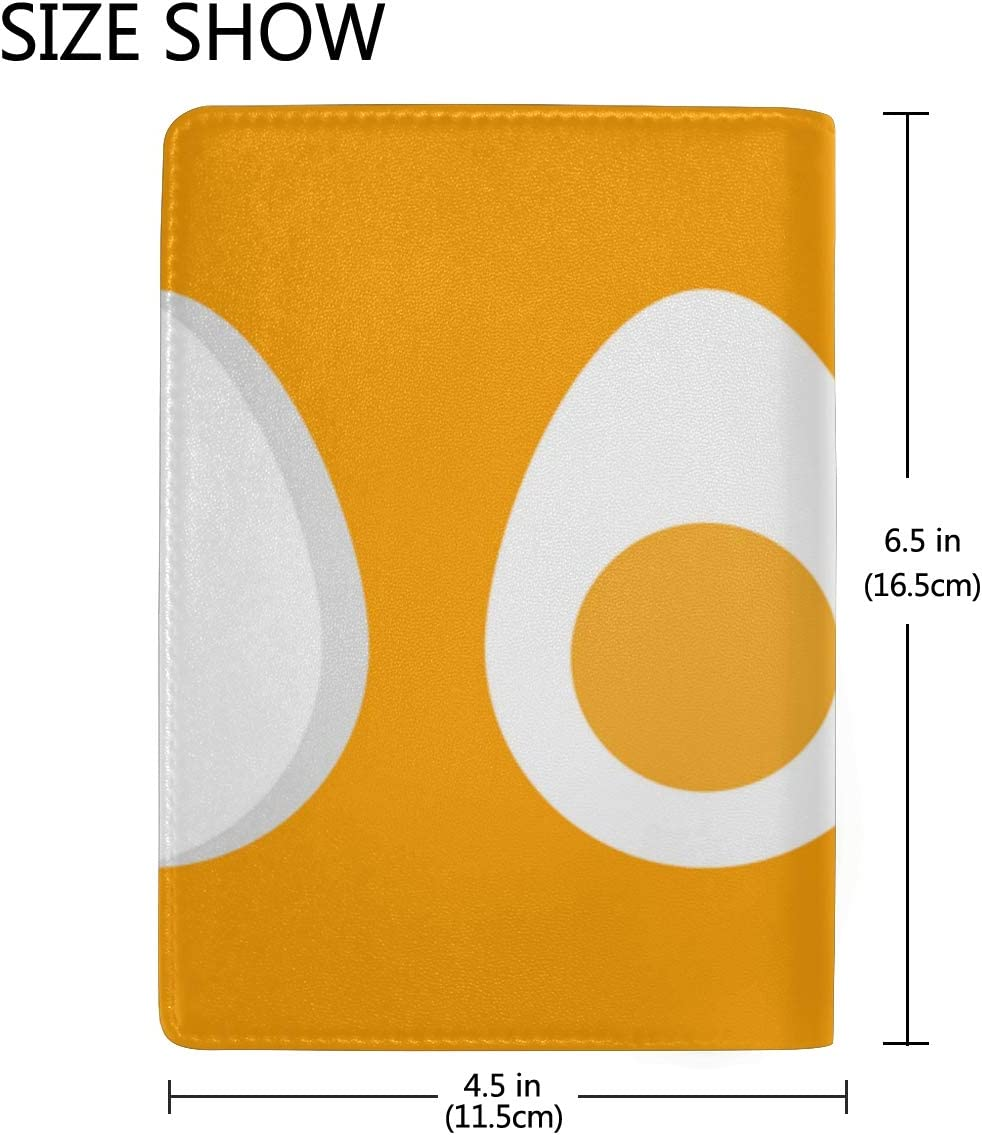 Passport Cover Set Delicious Yellow Omelet Stylish Pu Leather Travel Accessories Zipper Passport Cover For Women Men