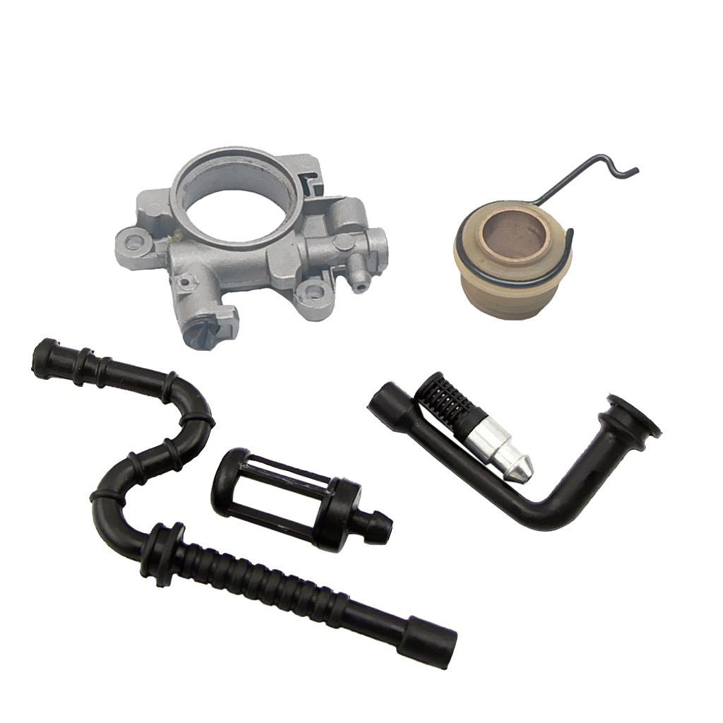 /Ölpumpe Schneckengetriebe Kraftstofffilter Kraftstoffleitung Set f/ür STIHL MS290 390 310 029 039