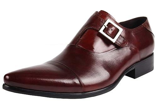 4312e92f0c607 Jsix Hombre Sin Cordones Formales Zapatos De Vestir De Piel Ocasiones  Formales o Informales Caballero -. Cerrar En directo Cerrar
