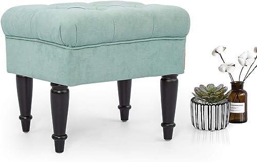 Adeco Modern Mid-Century Ottoman Stool Seat