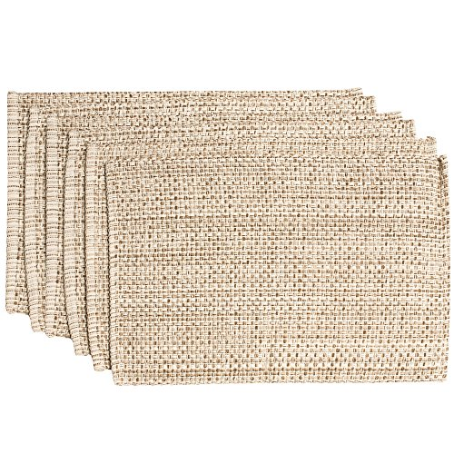 Sweet Home Collection Trends Two Tone 100% Cotton Woven Placemat (6 Pack), 13