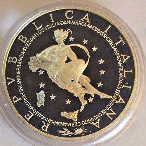 2003 IT Italy 2003 Silver Proof Coin 10 Euro Presidency o 10 Euro Good