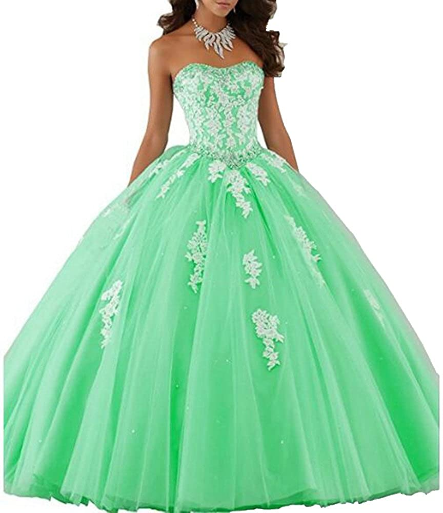Style1mint ANGELA Women's Ball Gown Organza Quinceanera Dresses Prom Gowns