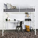 Sunrise Metal Twin/Workstation Bunk Bed - White