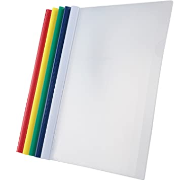 bilipala 10 counting plastic clear sliding bar file folder report covers for a4 size paper
