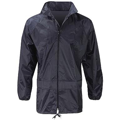 Raiken Men s Waterproof Full Zip Rain Jacket Work Overcoat Kagoul Size   Amazon.co.uk  Clothing 2511c4fae1