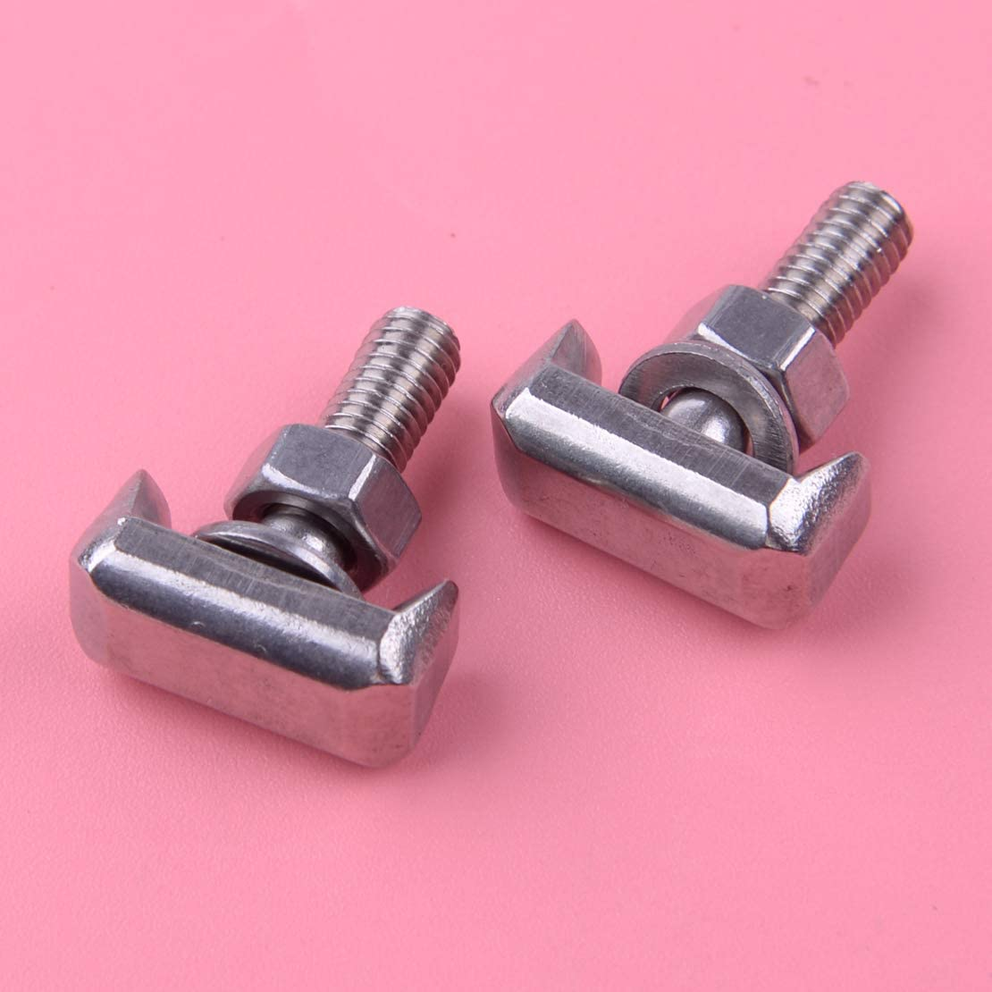 Stainless Steel 2pcs Battery Cable Terminal Connectors Fastener T-Bolt Fit for Audi Cadillac Chevrolet GMC Saturn VW