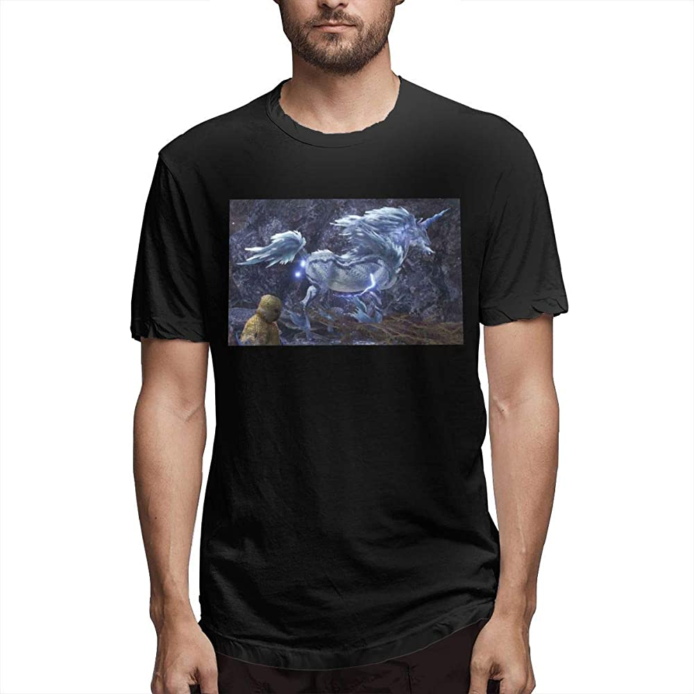 Camiseta Estampada para Hombre Monster Hunter World Kirin de Manga Corta, Divertida, Negra,S: Amazon.es: Ropa y accesorios