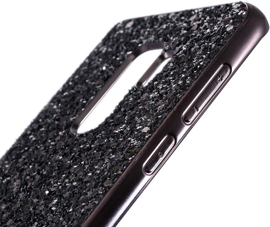 Qooarker Handyh/ülle Kompatibel mit Samsung Galaxy S9 Plus Glitzer H/ülle Glitter Sparkles Muster Hart PC Bumper Crystal Hard Back Cover Shinny Abdeckung Leichte Schutzh/ülle Samsung Galaxy S9 Plus Blau