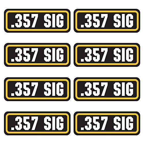 - AZ House of Graphics 357 SIG Ammo Sticker 8 Pack
