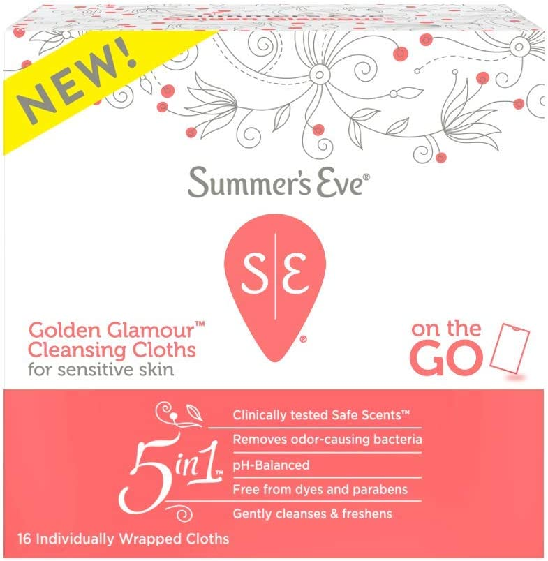 Summer's Eve Summer's Eve Feminine Cleansing Cloths, Golden Glamour: Health & Personal Care