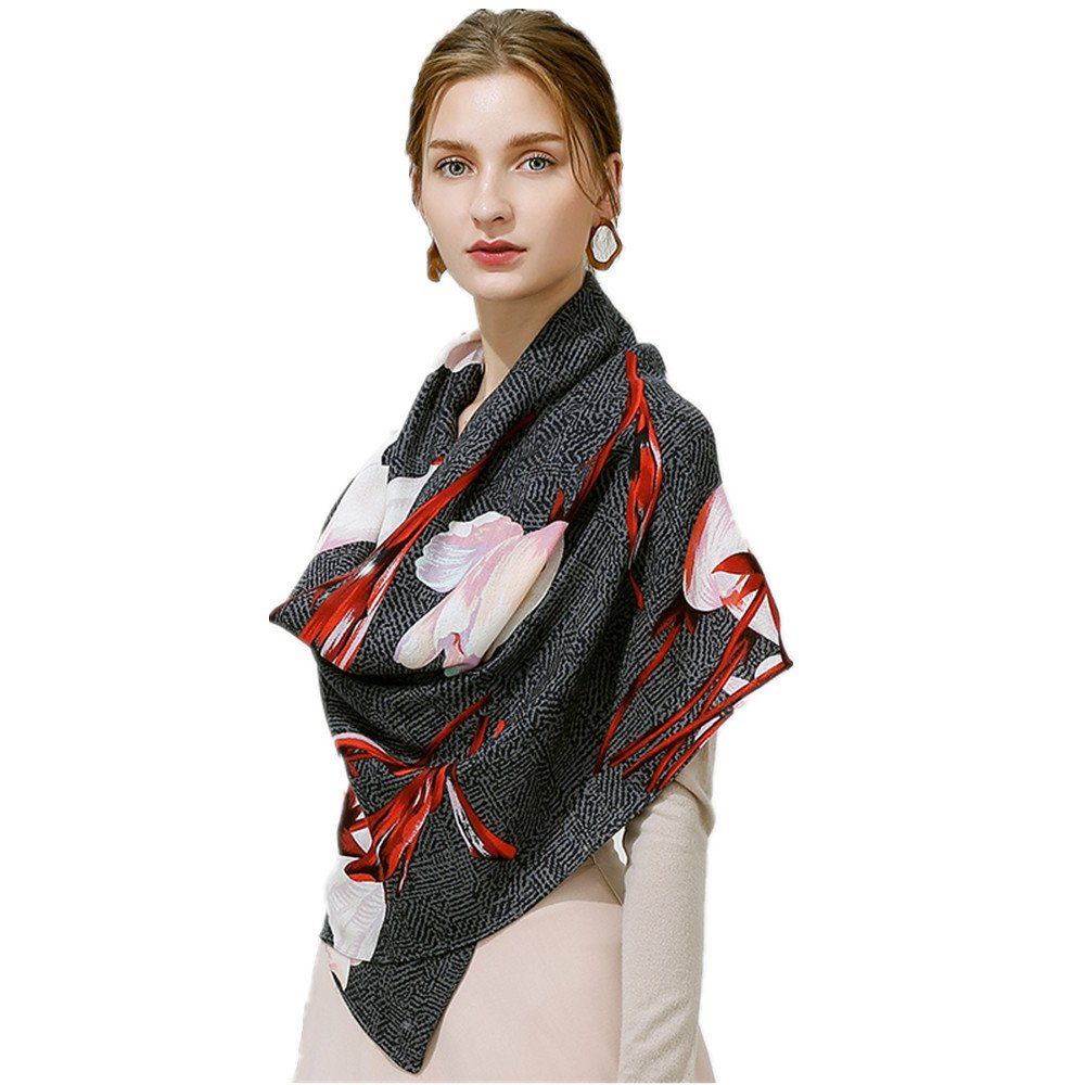 Women's Fashion Luxury Pure Wool Winter Scarves Printing Wraps Long Stole Shawl(190cmx60cm),3#