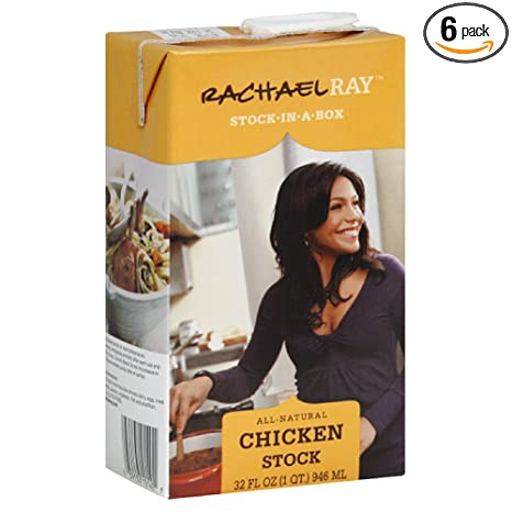 Amazon Com Rachel Ray Chicken Stock In A Box 32 Ounce Pack Of 6 Broths Grocery Gourmet Food