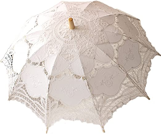 jellbaby blanco boda paraguas de encaje sombrilla Victorian Lady ...