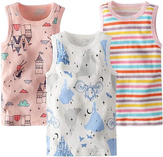 benetia Girls Cotton Tank Undershirts 3-Pack