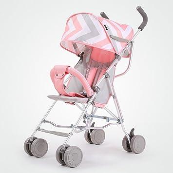 ERRU- Cochecito De Bebé Azul Ligero Carruajes De Bebé Paraguas De Los Niños Sistemas De