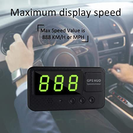 C60S Digital Car GPS Tachometer HUD Head Up Display Speedometer KM//h MPH Vehicle Speed Alarm for All Vehicles for Car Bicycle Motorcycle