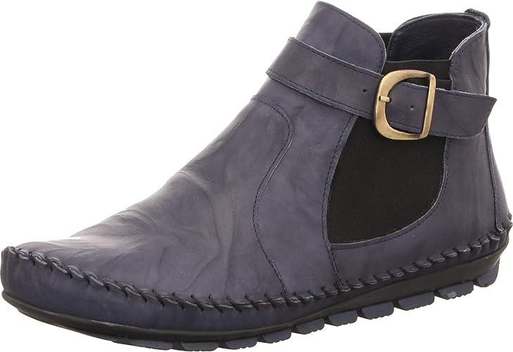 39 Lederstiefeletten Lederstiefel Schuhe Gemini Damen Stiefeletten Jeansblau Gr