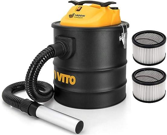 Aspirador de cenizas VITO 1400 W TORNADO 18 L 2 filtros HEPA ...