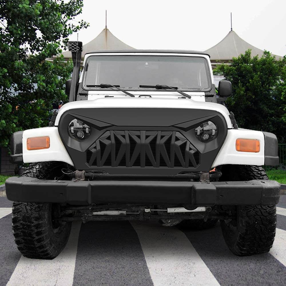 ABS American Modified 2018-2019 JL JLU White /& Black Shark Grill Jeep Wrangler Grill Grille Accessories /& Unlimited