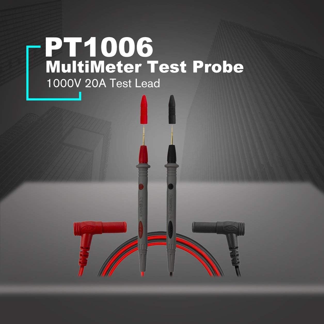 Kongqiabona-UK PT1006 Puntale sonda di Prova multimetro Punta ago 1000A 20A per multimetro Digitale della Linea di Penne multimetro Uni-T//Victor