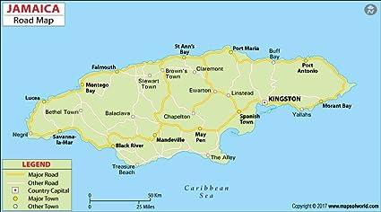 Amazon.com : Jamaica Highway Map (36\