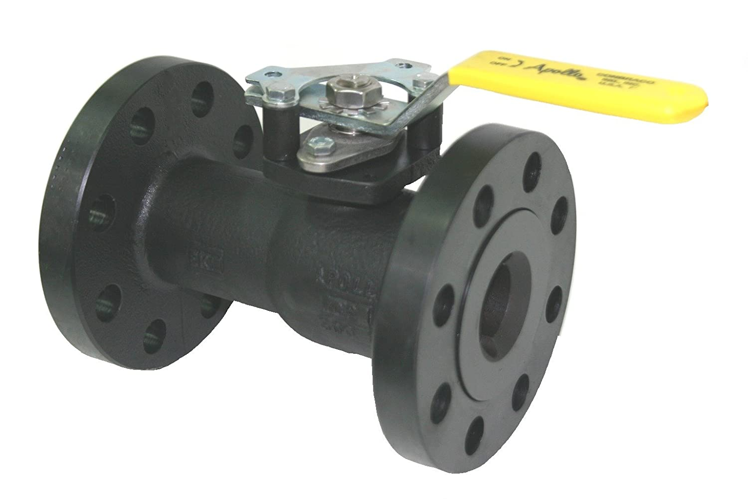 Standard Port Apollo 88A-700 Series Carbon Steel Ball Valve Handle Adapter 4 Flanged 4 Flanged Conbraco Industries 88A70A01 Inline Class 300