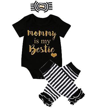 e06f0f154 3 Styles Newborn Baby Girl I'm Daddy Girl Letter Print Bodysuit+Leg Warmer