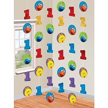 Amazon.com: Primer cumpleaños Elmo cuerda decoraciones ...