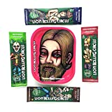 5 Bundle Essential: 4 Lion Rolling Circus Hemp Wraps Cigarette Flavored Paper + Lion Rolling Circus Rolling Tray (PINK/LADY)