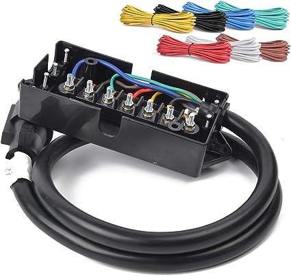 HQAP - Kit de arnés en línea de 7 vías para 7 enchufes con Caja de ...